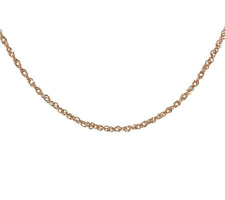 "Milor 24"" Diamond Cut Singapore Necklace, 14K G old 2.20g"