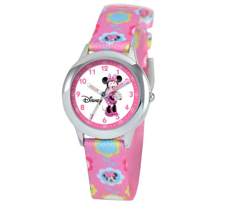 Disney Kids Minnie Mouse Stainless Steel Time Teacher