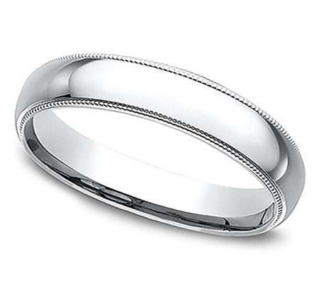 Sterling Silver Milgrain 3MM Unisex Wedding B and Ring