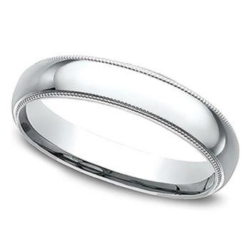 Sterling Silver Milgrain 3MM Unisex Wedding B and Ring