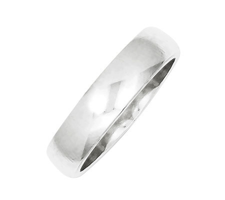 Sterling 5mm Polished Half-Round Ring