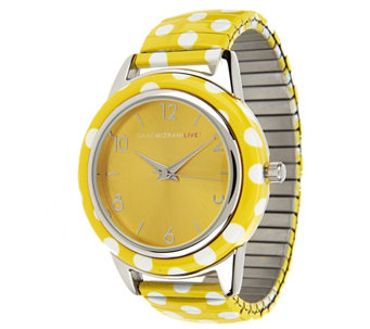 """As Is"" Isaac Mizrahi Live! Polka Dot Expansion Watch - J317476"