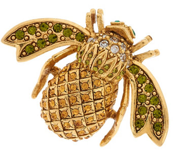 Joan Rivers Pave' Pineapple Bee Pin - J319876