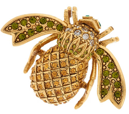 Joan Rivers Pave' Pineapple Bee Pin