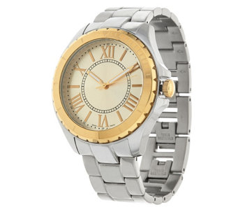 """As Is"" Stainless Steel Round CaSe Bracelet Watch - J327876"