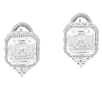 Judith Ripka Sterling or 14K Clad Diamonique Earrings - J328076