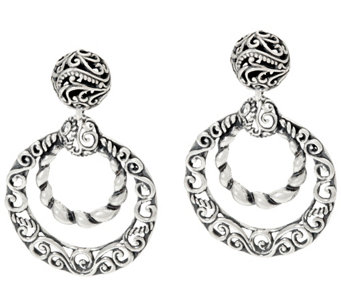 Carolyn Pollack Sterling Silver Signature Dangle Earrings - J329576