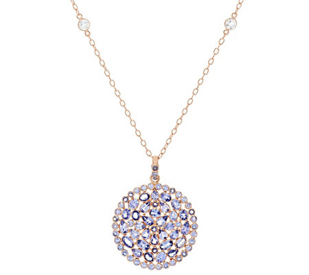 """As Is"" Graziela Gems Tanzanite 18K/ Sterl. Pendant 8.00 ct tw"