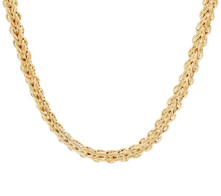 "14K Gold 18"" Braided Woven Necklace, 18.0g"