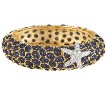 """As Is"" Kenneth Jay Lane's Neptune Cabochon Bangle Bracelet - J332476"