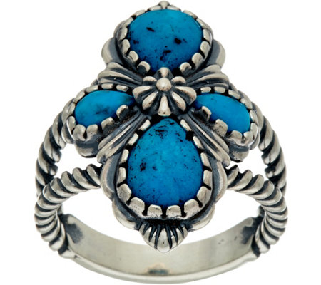 Sterling Silver Kingman Turquoise Ring by American West