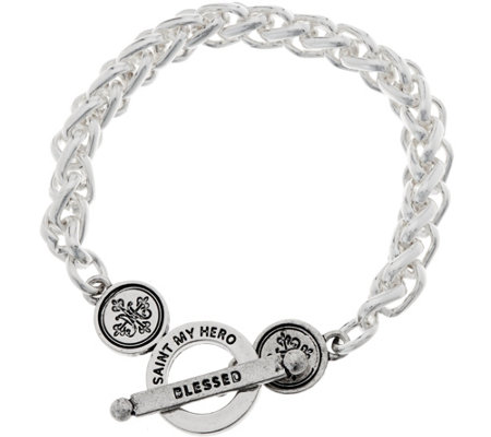 My Saint My Hero Blessed Links Toggle Bracelet