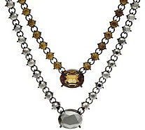 LOGO Links by Lori Goldstein Double Strand Necklace - J348976