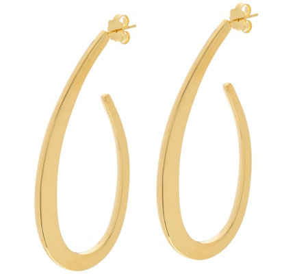 "Bronze 1-1/2"" Fancy J Hoop Earrings by Bronzo Italia"