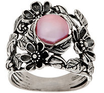 Or Paz Sterling Cultured Pearl Floral Ring - J351376