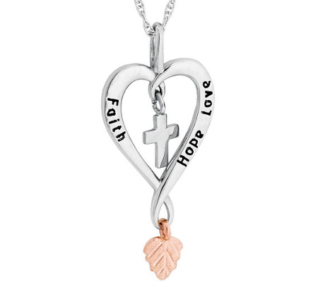 Black hills faith hope love pendant sterling12k gold qvc black hills faith hope love pendant aloadofball Image collections
