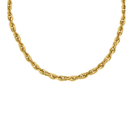Italian Gold Bold Loose Rope Necklace 14K, 8.8g