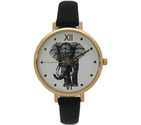 Olivia Pratt Women's Elephant Leather Watch