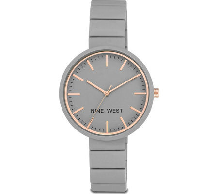 Nine West Ladies Gray Kerena Bracelet Watch