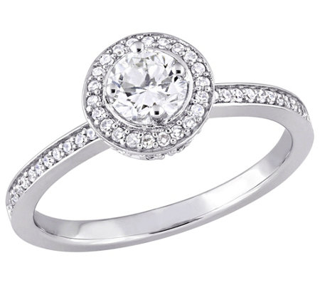 Affinity 14K Gold 1/2 cttw Round Diamond Halo Ring