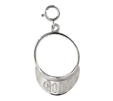 14K White Gold Golf Visor Charm