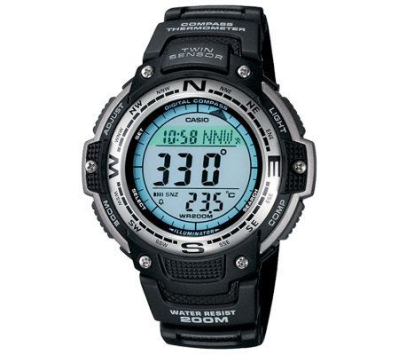 Casio Men's Digital Compass Twin Sensor Resin Band Watch