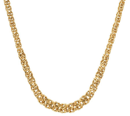 "Veronese 18K Clad 18"" Graduated Byzantine Necklace"