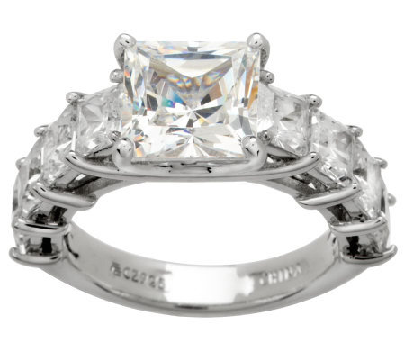 Epiphany Diamonique Princess Cut Ring