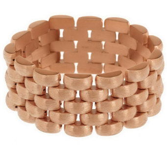 "Bronze 8"" Satin Finish Panther Link Bracelet by Bronzo Italia - J285177"
