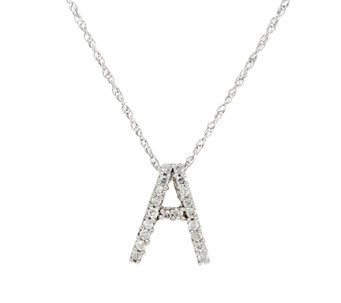 Diamond Mini- Initial Pendant Sterling 1/10 cttw by Affinity - J290277