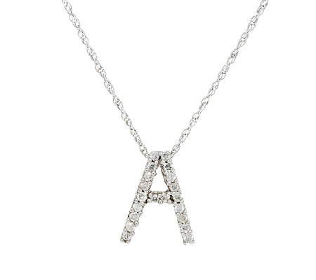 Diamond Mini- Initial Pendant Sterling 1/10 cttw by Affinity