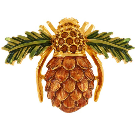 Joan Rivers Pinecone Bee Pin