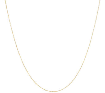 "Vicenza Gold 18"" Singapore Chain Necklace 14K Gold - J296877"