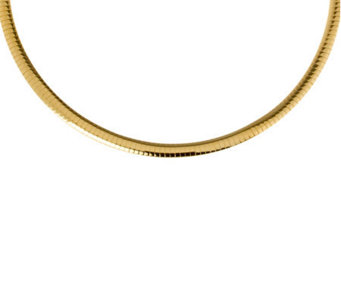 "Veronese 18K Clad 20"" Polished Omega Necklace - J299077"