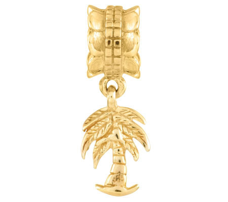 Prerogatives 14K Yellow Gold-Plated Sterling Palm Tree Bead