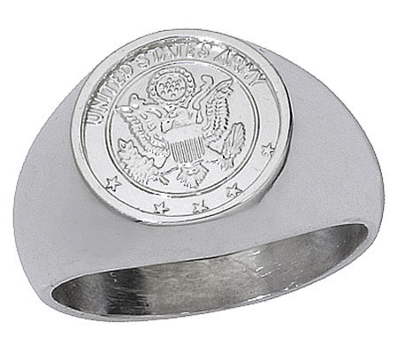 Sterling Army Signet Ring