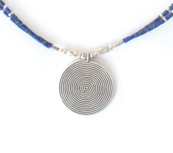 Novica Artisan-Crafted Sterling Lapis Necklace - J304177