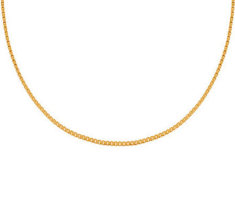 "Veronese 18K Clad 16"" Polished Box Chain - J304677"