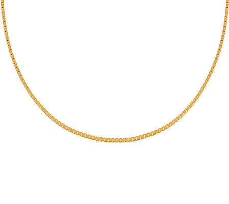 "Veronese 18K Clad 16"" Polished Box Chain"