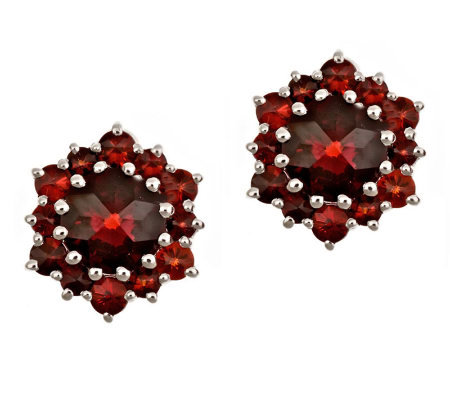 3.40 ct tw Garnet Stud Earrings, Sterling