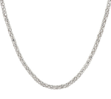 "Silver Style Diamond Cut 24"" Sterling Silver Necklace"