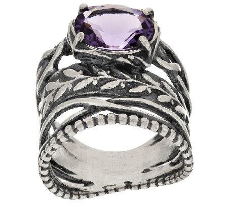 Sterling Silver 2.00ct Brazilian Amethyst Ring by Or Paz