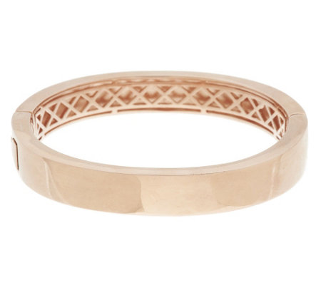 """As Is"" Bronzo Italia Polished Oval Hinged Bangle"