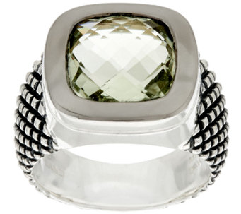 Michael Dawkins Sterling Crosshatch 3.75 ct wt Mint Quartz Ring - J319877