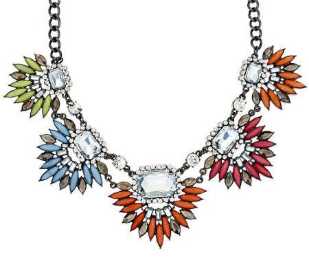 "LOGO Links by Lori Goldstein 18"" Spikey Burst Statement Necklace"