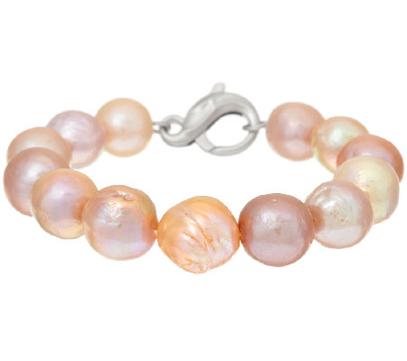 Honora Ming Cultured Pearl Average Sterling Bracelet