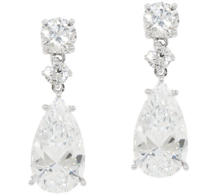 The Elizabeth Taylor Round & Pear Drop Earrings