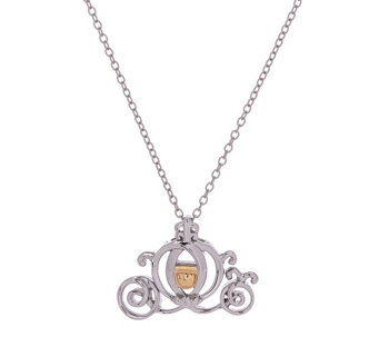 Disney Sterling Silver & 10K Gold Accent Motif Necklace - J324077