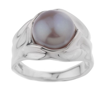 """As Is"" Hagit Sterling Blush 9.5mm Cultured Pearl Sculpted Ring"