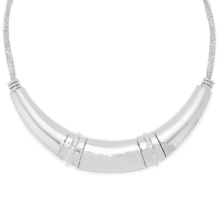 Sterling Silver Statement Necklace by Silver Style, 50.1g